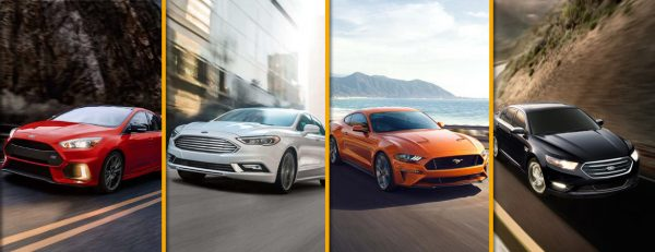 mashup of four 2018 ford car models