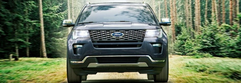 A front-facing image of the 2018 Ford Explorer